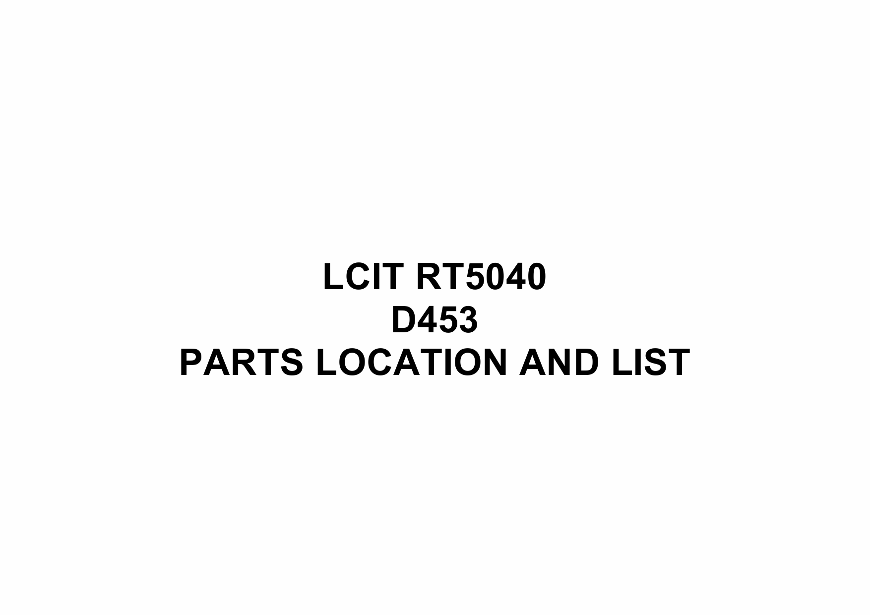 RICOH Options D453 LCIT-RT5040 Parts Catalog PDF download-1